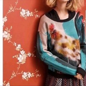 Anthropologie Artist Rooster Sweater Medium